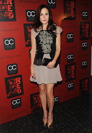 The stunning Mary Louise Parker attended the screening of 'Red' at the Museum of Modern Art in New York City. The triple platforms were the ultimate accessory to her twist on a little black dress!