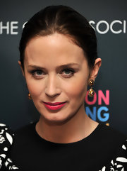 Emily Blunt wore a pop of hot pink lipstick at a screening of 'Salmon Fishing in the Yemen.'