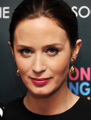 Emily Blunt attended a screening of 'Salmon Fishing in the Yemen' wearing a pair of Alice Rose earrings featuring pink tourmaline and diamonds.