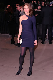 Christy Turlington looked killer in this single-sleeve cocktail dress for the 'Friends With Kids' premiere.