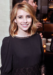 Emma Roberts wore her adorable shaggy bob with long side-swept bangs at a screening of 'Hick.'