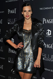 Alessandra shined at the 'Blue Valentine' premiere in this metallic mini.