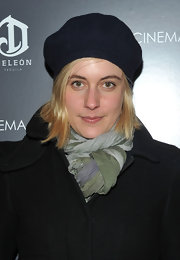 Greta Gerwig wore a black beret to the 'Blue Valentine' screening for added warmth and style.