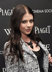 Michelle Trachtenberg wore her raven tresses in long, flowing curls at a screening of 'W.E.'
