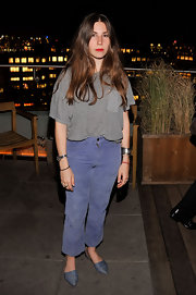 These pointy flats were a great addition for a little something different to Zosia Mamet's outfit.