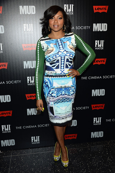 More Pics of Taraji P. Henson Print Dress (1 of 4) - Taraji P. Henson Lookbook - StyleBistro