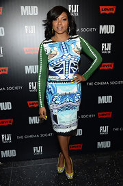 Taraji P. Henson's stamp-print dress was a classic statement piece on the red carpet.