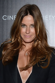 Kelly Bensimon rocked a pale pink lip gloss while at the 'Pain and Gain' screening in NYC.