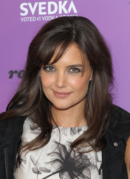 More Pics of Katie Holmes Long Side Part (1 of 34) - Katie Holmes Lookbook - StyleBistro