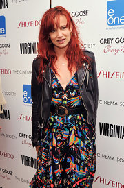 Juliette Lewis left her hair long and slightly wavy for a screening of 'Virginia.'
