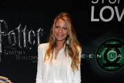 Actress Blake Lively arrives at a Warner Bros. Pictures presentation to promote her new film,