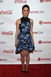 Rose Byrne was the picture of ultra-feminine exuberance in a flower-appliqued Preen mini dress during the CinemaCon Big Screen Achievement Awards.