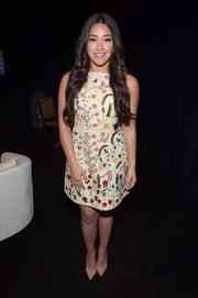 Gina Rodriguez went for minimal styling with a pair of nude pumps.