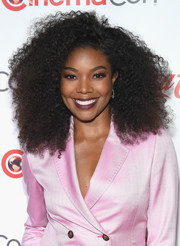Gabrielle Union embraced the natural look with this afro at the 2018 CinemaCon Big Screen Achievement Awards.