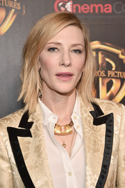 Cate Blanchett sported a cool and trendy layered lob at CinemaCon 2018.