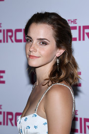Emma Watson looked pretty, as always, with her sweet wavy 'do at the Paris premiere of 'The Circle.'