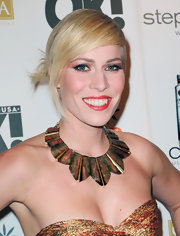 Natasha Bedingfield swept on shiny metallic copper eyeshadow for 'OK!' magazine's Women of Music Celebration.