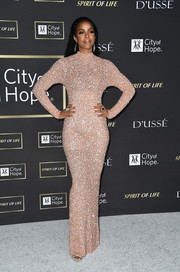 Kelly Rowland went full-on glam in a beaded column dress by Yousef Al-Jasmi for the City of Hope Gala.