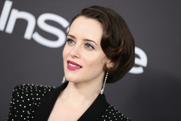 Claire Foy Bob [hair,face,lip,eyebrow,hairstyle,chin,skin,cheek,beauty,forehead,claire foy,beverly hills,california,the beverly hilton hotel,instyle,golden globes,warner bros.,arrivals,party]