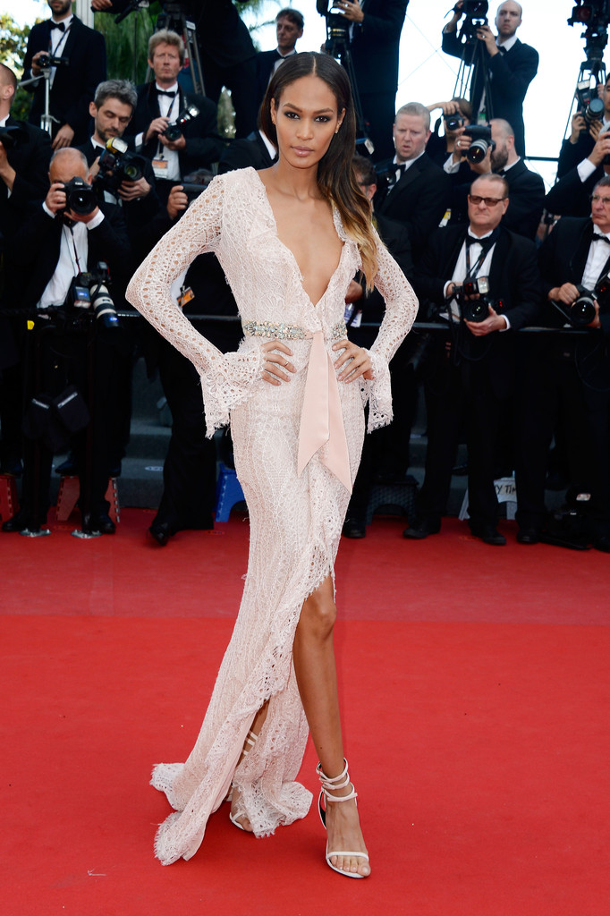 Model Joan Smalls attends the 'Cleopatra' premiere during The 66th Annual Cannes Film Festival at The 60th Anniversary Theatre on May 21, 2013 in Cannes, France.