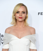 Christina Ricci attended the 'Clive Davis: The Soundtrack of Our Lives' premiere concert wearing her hair in a cute flip.