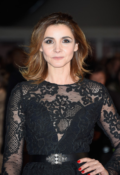 Clotilde Courau Red Nail Polish [red carpet arrivals,hair,face,clothing,fashion,beauty,hairstyle,fashion model,dress,long hair,haute couture,december 13,clotilde courau,cannes,france,palais des festivals,nrj music awards]
