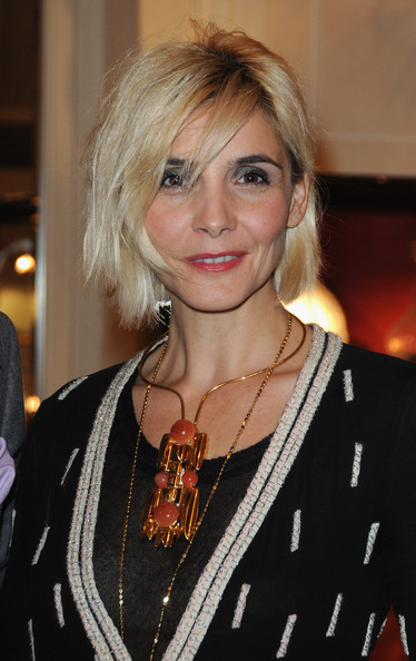 Clotilde Courau Gemstone Statement Necklace [neree for ere,hair,hairstyle,blond,face,eyebrow,layered hair,chin,lip,hair coloring,long hair,new jewellery collection,gaia repossi,eugenie niarchos,clotilde courau,collection,paris,jewellery,launch,launch]