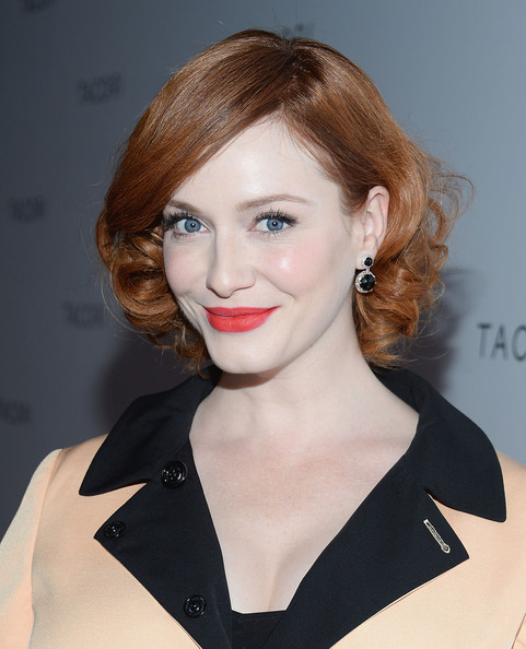 More Pics of Christina Hendricks Short Curls (3 of 8) - Christina Hendricks Lookbook - StyleBistro