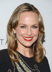 Melora Hardin attended the Club Tacori event wearing a retro-glam wavy 'do.