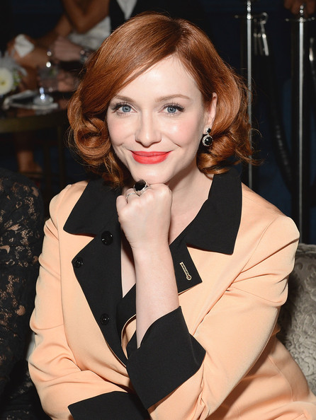 More Pics of Christina Hendricks Short Curls (2 of 8) - Christina Hendricks Lookbook - StyleBistro