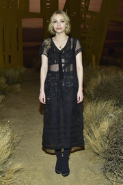 Tavi Gevinson joined the sheer trend with this black number by Coach when she attended the label's fashion show.
