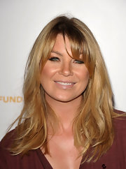 Ellen Pompeo was a bronzed beauty at the Children's Defense Fund event. Her honey-hued tresses added to her looks allure.