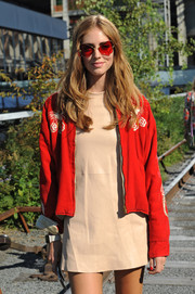 Chiara Ferragni attended the Coach fashion show wearing oh-so-cool Retrosuperfuture Andy Warhol Ultracandy sunglasses.
