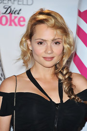 Beatrice Rosen rocked a textured braid with tousled bangs that perfectly framed her face.