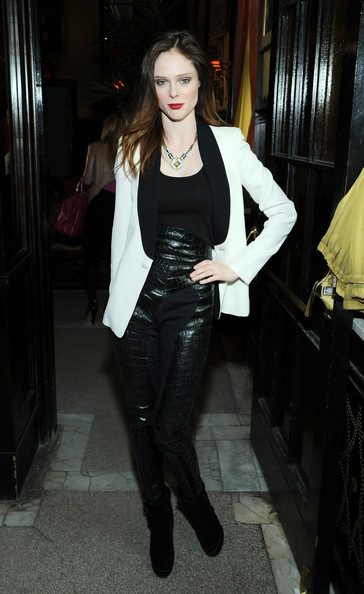 Coco Rocha Leather Pants