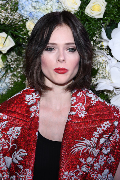 Coco Rocha Bob [hair,lip,red,beauty,hairstyle,fashion,black hair,eye,long hair,premiere,coco rocha,sidaction,haute couture spring summer,part,paris,france,paris fashion week]