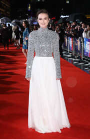 Keira Knightley brought major sparkle to the red carpet with this beaded-bodice gown by Chanel Couture at the UK premiere of 'Colette.'