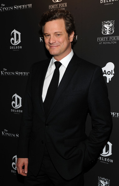 Colin Firth Men's Suit [the kings speech,the premiere,red carpet,suit,formal wear,tuxedo,white-collar worker,premiere,tie,event,style,deleon,colin firth,ziegfeld theatre,new york city,weinstein company,aol,premiere]
