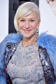 Helen Mirren wore her signature bob with one side tucked behind her ear when she attended the world premiere of 'Collateral Beauty.'