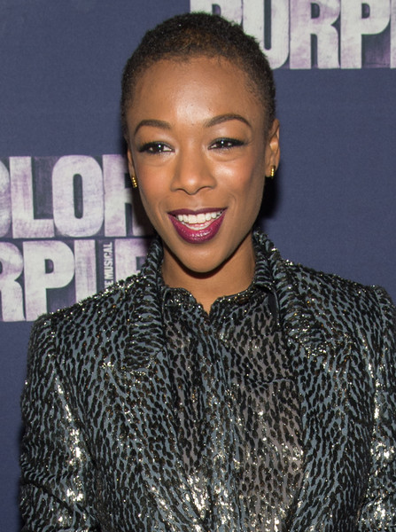 More Pics of Samira Wiley Buzzcut (1 of 3) - Short Hairstyles Lookbook - StyleBistro [the color purple,hair,face,hairstyle,eyebrow,lip,beauty,forehead,black hair,fashion,long hair,samira wiley,curtain call,new york city,the bernard b. jacobs theatre,broadway,broadway opening night - arrivals,opening night]