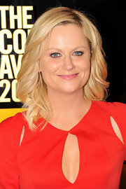 Amy Poehler added feathered waves to her long blond locks for the 2012 Comedy Awards.