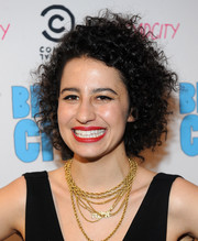 Ilana Glazer attended the screening of 'Broad City' wearing her hair in tousled curls.