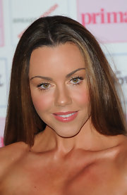 Michelle Heaton wore her hair sleek and straight at the Comfort Prima Fashion Awards.