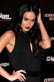 Megan Fox went for a super pale polish that she paired with a black dress and magenta lipstick at Comic-Con 2009.