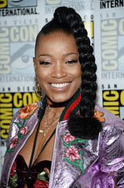 Keke Palmer got a little playful with this side-shaved braid during Comic-Con International 2016.
