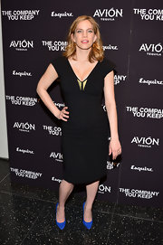 Anna Chlumsky stuck to a fashion staple by choosing this LBD with a deep V-neck.