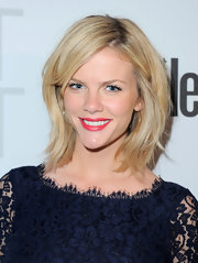 Brooklyn Decker showcased her flawless beauty at the Conde Nast Traveler Annual Hot List Party wearing classic red lipstick.