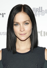 Leigh Lezark wore a sleek straight shoulder-length 'do at the Shorties celebration.