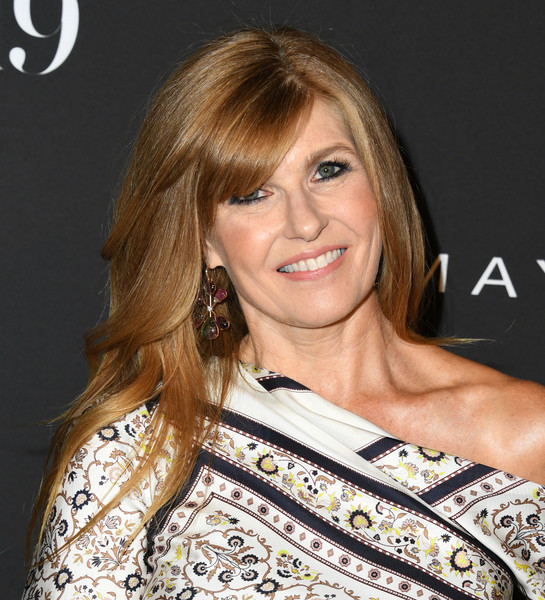 Connie Britton Long Straight Cut with Bangs [hair,hairstyle,blond,eyebrow,brown hair,layered hair,beauty,long hair,chin,hair coloring,arrivals,connie britton,instyle awards,the getty center,los angeles,california]
