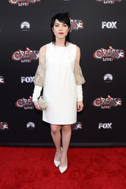 Carly Rae Jepsen sported the cold-shoulder trend with this white number at the 'Grease: Live' FYC event.